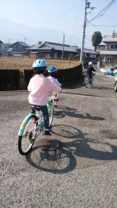 春の自転車練習
